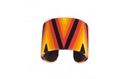 Bracelet ethnique en fil rouge noir jaune