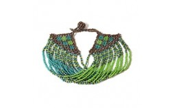 Bracelet ethnique vert turquoise