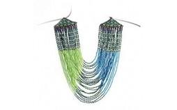 Collier femme vert turquoise