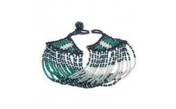 Bracelet ethnique en perles argent vert