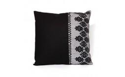 Coussin design graphique noir et blanc