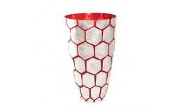 Vase en Nacre Nid D'abeille Rouge
