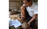 Indonésie - Sculpture coco