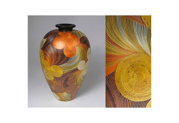 Vase en Marqueterie de Paille