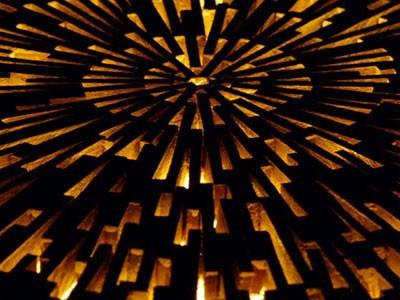 Table en mosaïque de bois